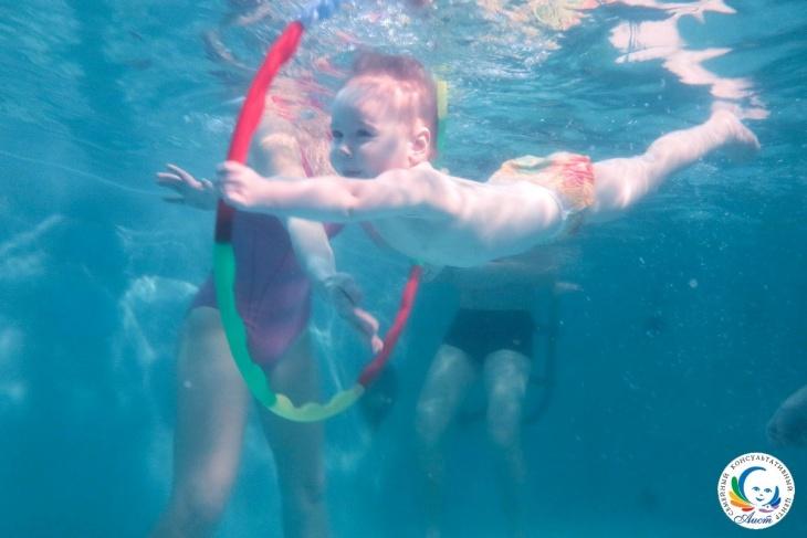 Занятия для детей в бассейне от 3-х месяцев до 3,5 лет