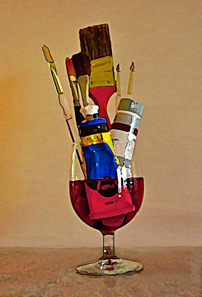 """Живопис і вино """"Картина за 4 години"""""""