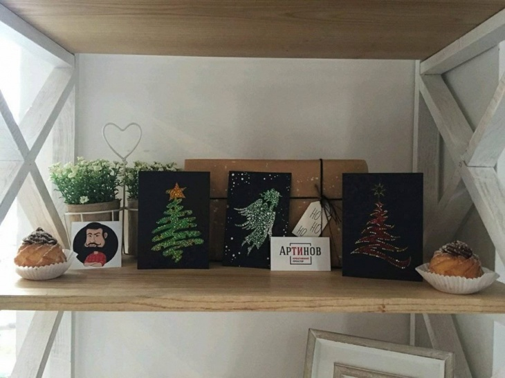 """Майстер-Клас """"Різдвяні Листівки у стилі Пуантилізм"""""""