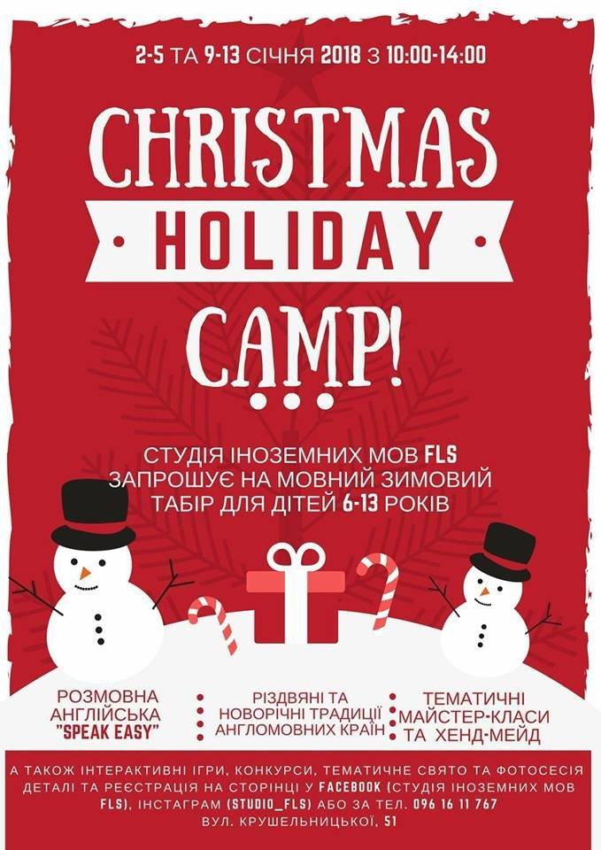 Christmas Holiday Camp 2018 - зимовий денний табір