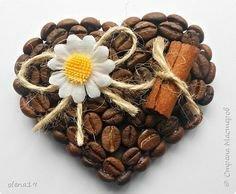 Ароматное кофейное сердечко. Мастер-класс для детей