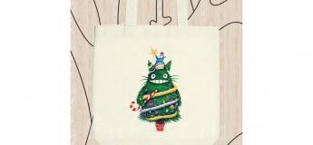 Майстер-клас з розпису сумки чи рюкзачка на Новорічну тематику