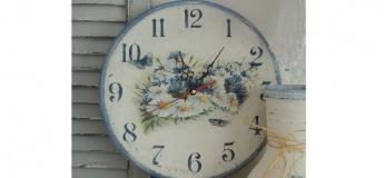 Декупаж настінного годинника