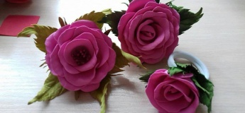 Квіти з фоамірану