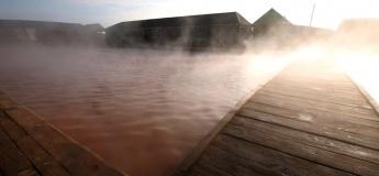 Крещенское купание в гейзере